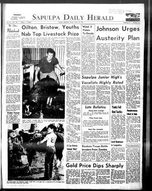 Primary view of Sapulpa Daily Herald (Sapulpa, Okla.), Vol. 53, No. 159, Ed. 1 Monday, March 18, 1968