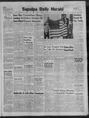 Primary view of Sapulpa Daily Herald (Sapulpa, Okla.), Vol. 44, No. 149, Ed. 1 Wednesday, February 25, 1959