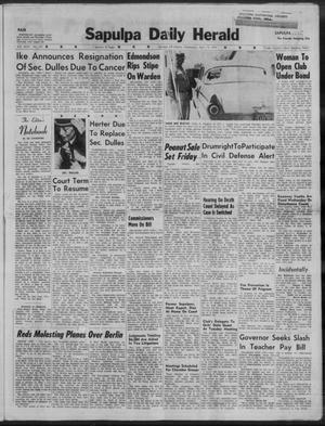 Primary view of Sapulpa Daily Herald (Sapulpa, Okla.), Vol. 44, No. 191, Ed. 1 Wednesday, April 15, 1959