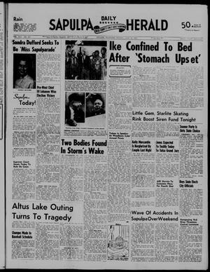 Primary view of Sapulpa Daily Herald (Sapulpa, Okla.), Vol. 42, No. 237, Ed. 1 Monday, June 10, 1957