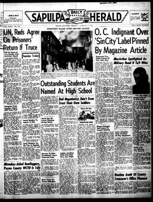 Primary view of Sapulpa Daily Herald (Sapulpa, Okla.), Vol. 37, No. 138, Ed. 1 Wednesday, February 13, 1952