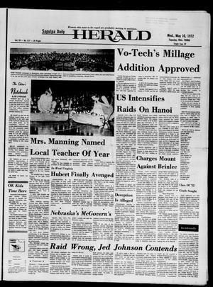 Primary view of Sapulpa Daily Herald (Sapulpa, Okla.), Vol. 58, No. 217, Ed. 1 Wednesday, May 10, 1972