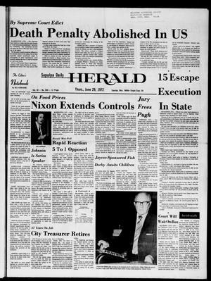 Primary view of Sapulpa Daily Herald (Sapulpa, Okla.), Vol. 58, No. 260, Ed. 1 Thursday, June 29, 1972