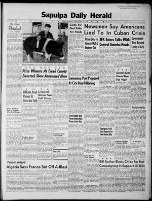 Primary view of Sapulpa Daily Herald (Sapulpa, Okla.), Vol. 48, No. 159, Ed. 1 Tuesday, March 19, 1963