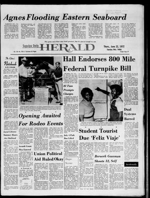 Primary view of Sapulpa Daily Herald (Sapulpa, Okla.), Vol. 58, No. 254, Ed. 1 Thursday, June 22, 1972