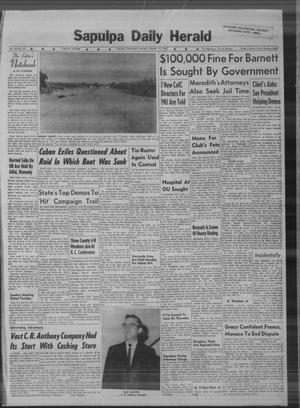 Primary view of Sapulpa Daily Herald (Sapulpa, Okla.), Vol. 48, No. 27, Ed. 1 Monday, October 15, 1962