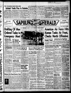 Primary view of Sapulpa Daily Herald (Sapulpa, Okla.), Vol. 36, No. 260, Ed. 1 Friday, July 7, 1950