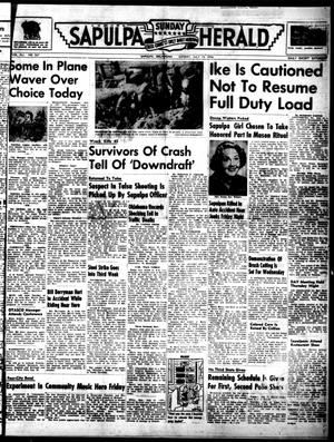 Primary view of Sapulpa Sunday Herald (Sapulpa, Okla.), Vol. 41, No. 267, Ed. 1 Sunday, July 15, 1956