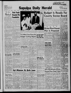 Primary view of Sapulpa Daily Herald (Sapulpa, Okla.), Vol. 44, No. 220, Ed. 1 Tuesday, May 19, 1959