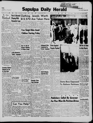 Primary view of Sapulpa Daily Herald (Sapulpa, Okla.), Vol. 45, No. 79, Ed. 1 Thursday, December 3, 1959
