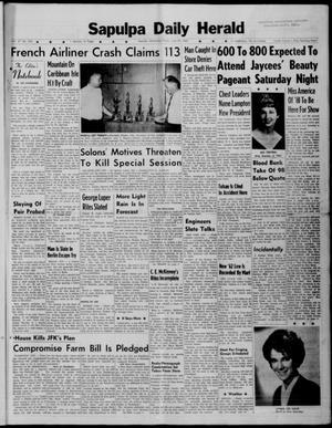 Primary view of Sapulpa Daily Herald (Sapulpa, Okla.), Vol. 47, No. 242, Ed. 1 Friday, June 22, 1962