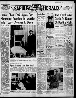 Primary view of Sapulpa Daily Herald (Sapulpa, Okla.), Vol. 36, No. 158, Ed. 1 Wednesday, March 8, 1950