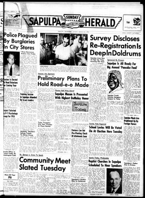 Primary view of Sapulpa Sunday Herald (Sapulpa, Okla.), Vol. 39, No. 169, Ed. 1 Sunday, March 21, 1954