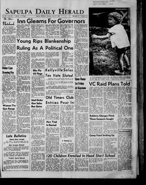 Primary view of Sapulpa Daily Herald (Sapulpa, Okla.), Vol. 53, No. 234, Ed. 1 Thursday, June 13, 1968