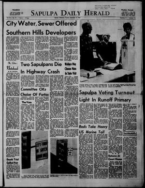 Primary view of Sapulpa Daily Herald (Sapulpa, Okla.), Vol. 54, No. 15, Ed. 1 Tuesday, September 17, 1968