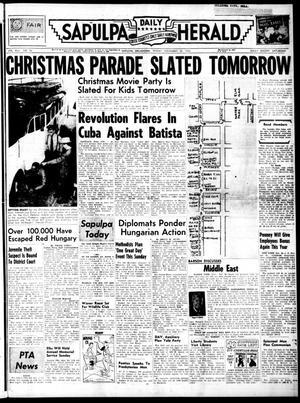 Primary view of Sapulpa Daily Herald (Sapulpa, Okla.), Vol. 42, No. 76, Ed. 1 Friday, November 30, 1956
