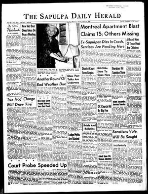 Primary view of The Sapulpa Daily Herald (Sapulpa, Okla.), Vol. 50, No. 155, Ed. 1 Monday, March 1, 1965