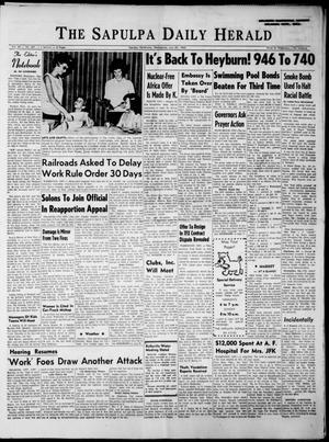 Primary view of The Sapulpa Daily Herald (Sapulpa, Okla.), Vol. 48, No. 268, Ed. 1 Wednesday, July 24, 1963
