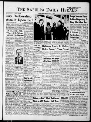 Primary view of The Sapulpa Daily Herald (Sapulpa, Okla.), Vol. 49, No. 164, Ed. 1 Wednesday, March 11, 1964