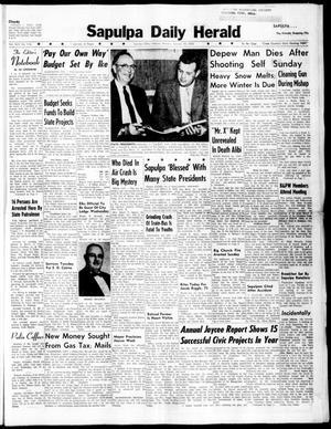 Primary view of Sapulpa Daily Herald (Sapulpa, Okla.), Vol. 45, No. 116, Ed. 1 Monday, January 18, 1960