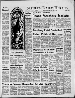 Primary view of Sapulpa Daily Herald (Sapulpa, Okla.), Vol. 54, No. 186, Ed. 1 Sunday, April 6, 1969