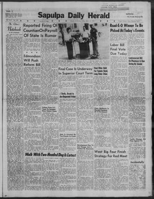 Primary view of Sapulpa Daily Herald (Sapulpa, Okla.), Vol. 44, No. 199, Ed. 1 Friday, April 24, 1959
