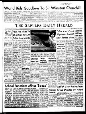 Primary view of The Sapulpa Daily Herald (Sapulpa, Okla.), Vol. 50, No. 130, Ed. 1 Sunday, January 31, 1965