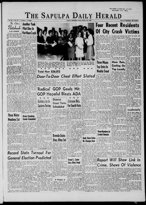 Primary view of The Sapulpa Daily Herald (Sapulpa, Okla.), Vol. 50, No. 47, Ed. 1 Monday, October 26, 1964