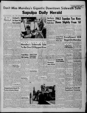 Primary view of Sapulpa Daily Herald (Sapulpa, Okla.), Vol. 47, No. 290, Ed. 1 Sunday, August 19, 1962