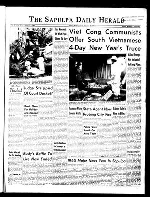 Primary view of The Sapulpa Daily Herald (Sapulpa, Okla.), Vol. 51, No. 102, Ed. 1 Tuesday, December 28, 1965