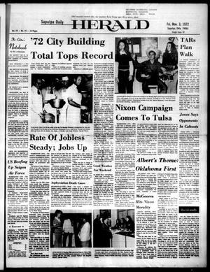 Primary view of Sapulpa Daily Herald (Sapulpa, Okla.), Vol. 59, No. 44, Ed. 1 Friday, November 3, 1972