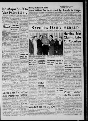 Primary view of object titled 'The Sapulpa Daily Herald (Sapulpa, Okla.), Vol. 50, No. 76, Ed. 1 Friday, November 27, 1964'.