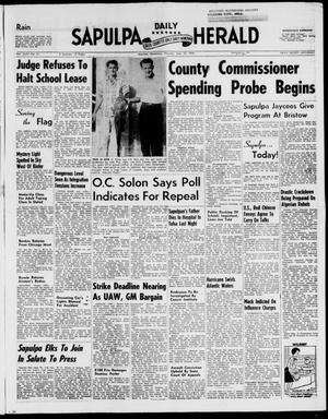Primary view of Sapulpa Daily Herald (Sapulpa, Okla.), Vol. 44, No. 21, Ed. 1 Thursday, September 25, 1958