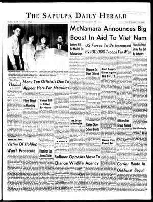 Primary view of The Sapulpa Daily Herald (Sapulpa, Okla.), Vol. 50, No. 199, Ed. 1 Wednesday, April 21, 1965