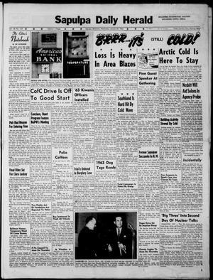 Primary view of Sapulpa Daily Herald (Sapulpa, Okla.), Vol. 48, No. 112, Ed. 1 Wednesday, January 23, 1963