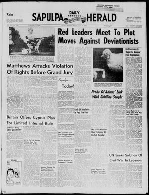 Primary view of Sapulpa Daily Herald (Sapulpa, Okla.), Vol. 43, No. 246, Ed. 1 Thursday, June 19, 1958