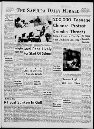 Primary view of The Sapulpa Daily Herald (Sapulpa, Okla.), Vol. 51, No. 310, Ed. 1 Monday, August 29, 1966