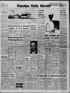 Primary view of Sapulpa Daily Herald (Sapulpa, Okla.), Vol. 45, No. 253, Ed. 1 Sunday, June 26, 1960