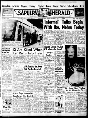 Primary view of Sapulpa Daily Herald (Sapulpa, Okla.), Vol. 42, No. 90, Ed. 1 Monday, December 17, 1956