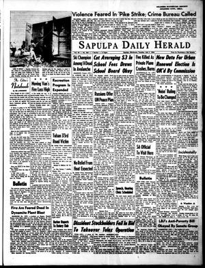 Primary view of object titled 'The Sapulpa Daily Herald (Sapulpa, Okla.), Vol. 49, No. 265, Ed. 1 Tuesday, July 7, 1964'.