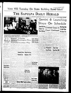 Primary view of object titled 'The Sapulpa Daily Herald (Sapulpa, Okla.), Vol. 51, No. 89, Ed. 1 Monday, December 13, 1965'.