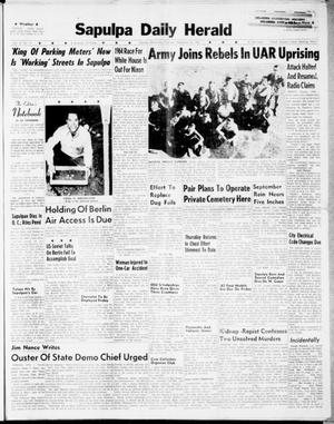 Primary view of Sapulpa Daily Herald (Sapulpa, Okla.), Vol. 47, No. 15, Ed. 1 Thursday, September 28, 1961