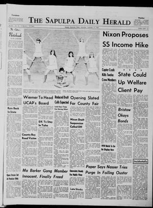 Primary view of The Sapulpa Daily Herald (Sapulpa, Okla.), Vol. 56, No. 15, Ed. 1 Wednesday, September 17, 1969
