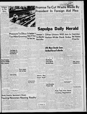 Primary view of Sapulpa Daily Herald (Sapulpa, Okla.), Vol. 46, No. 236, Ed. 1 Friday, June 16, 1961