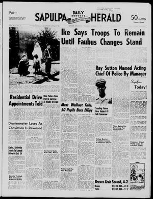 Primary view of Sapulpa Daily Herald (Sapulpa, Okla.), Vol. 43, No. 28, Ed. 1 Thursday, October 3, 1957