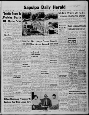 Primary view of object titled 'Sapulpa Daily Herald (Sapulpa, Okla.), Vol. 47, No. 279, Ed. 1 Monday, August 6, 1962'.
