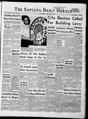 Primary view of The Sapulpa Daily Herald (Sapulpa, Okla.), Vol. 50, No. 287, Ed. 1 Tuesday, August 3, 1965