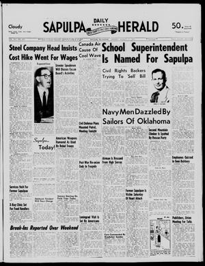 Primary view of object titled 'Sapulpa Daily Herald (Sapulpa, Okla.), Vol. 42, No. 290, Ed. 1 Monday, August 12, 1957'.