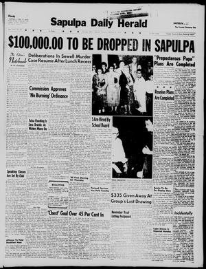 Primary view of object titled 'Sapulpa Daily Herald (Sapulpa, Okla.), Vol. 45, No. 30, Ed. 1 Tuesday, October 6, 1959'.