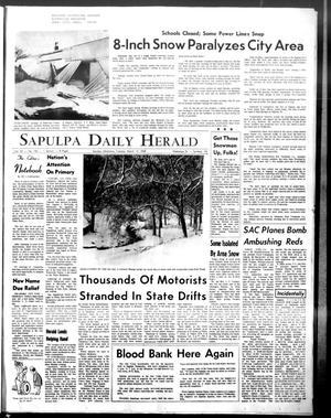 Primary view of Sapulpa Daily Herald (Sapulpa, Okla.), Vol. 53, No. 154, Ed. 1 Tuesday, March 12, 1968